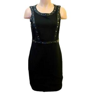 Lexxury leather look black dress size Medium